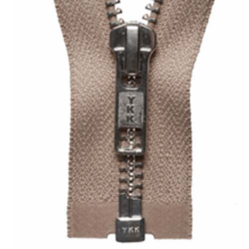 Nickel Open-Ended Zip - Fawn 573
