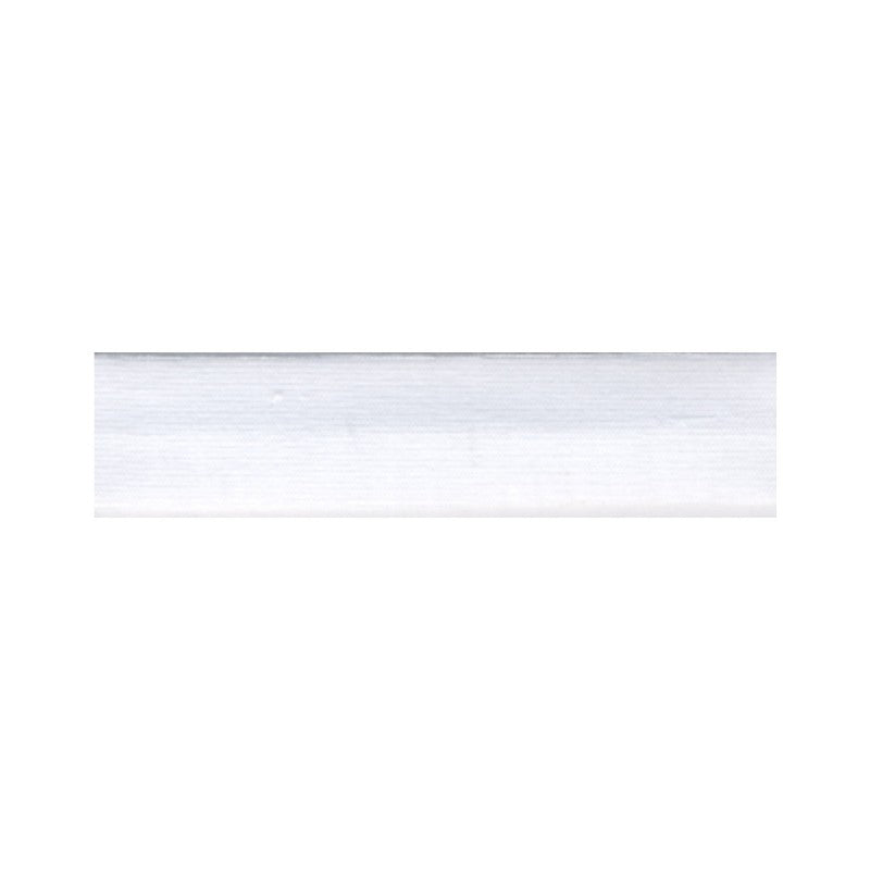 Cotton Stretch Jersey Binding 18mm - White