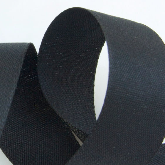 Rustic Taffeta Ribbon - Black