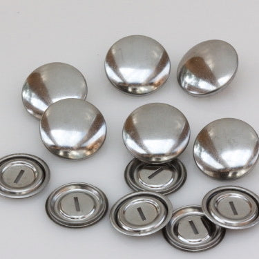 Self Cover Buttons Metal - 22mm