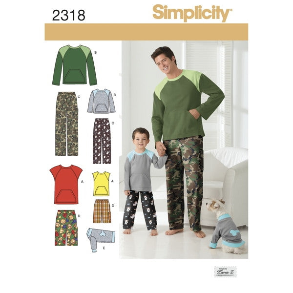 Simplicity 2318 - Men's & Boy's Lounge wear set