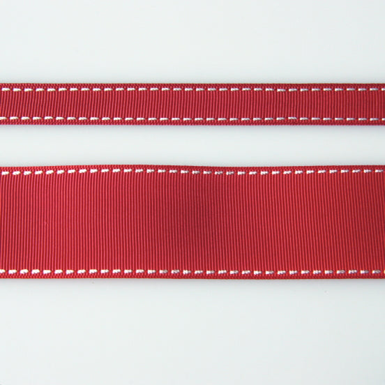 Grosgrain Stitch Ribbon - Bordeaux