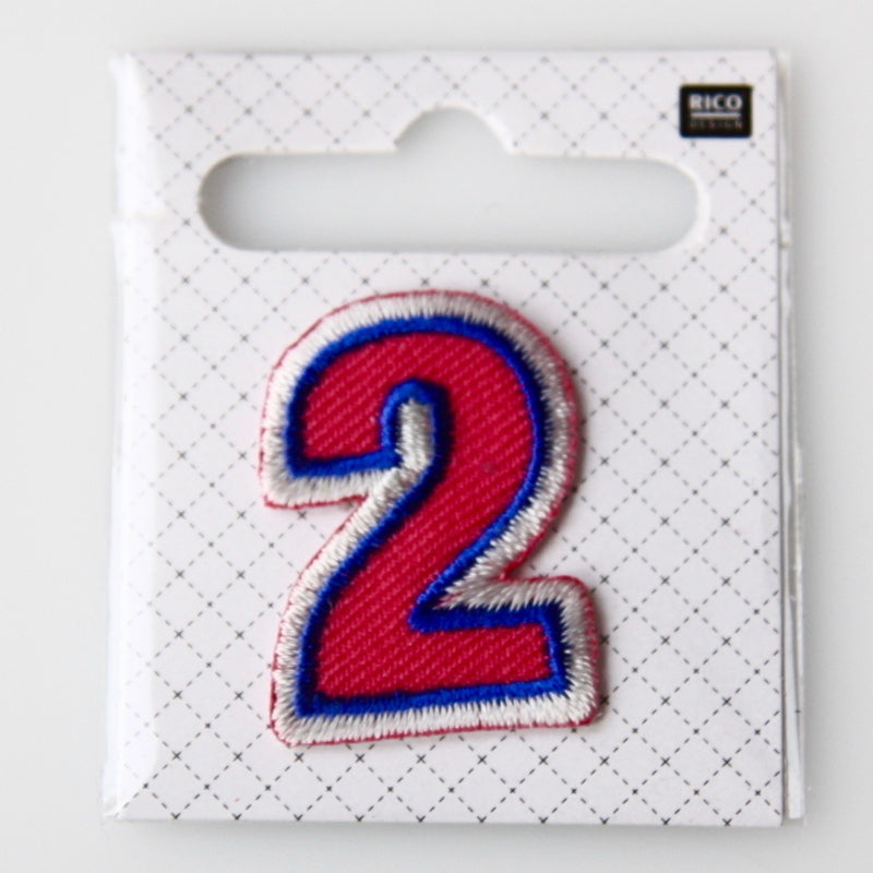 Iron-On Number Patch - 2