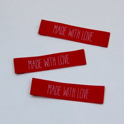 Woven Handmade Labels - Made With Love