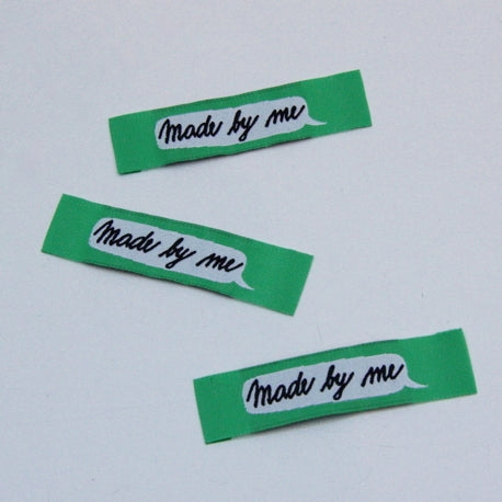 Woven Handmade Labels - Made By Me Green
