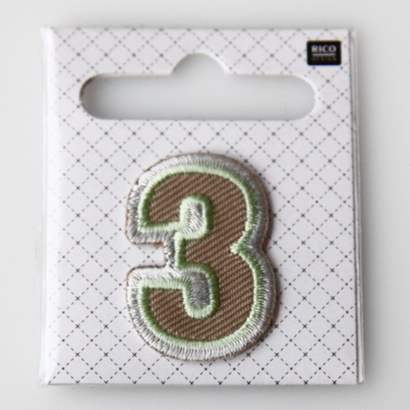 Iron-On Number Patch - 3