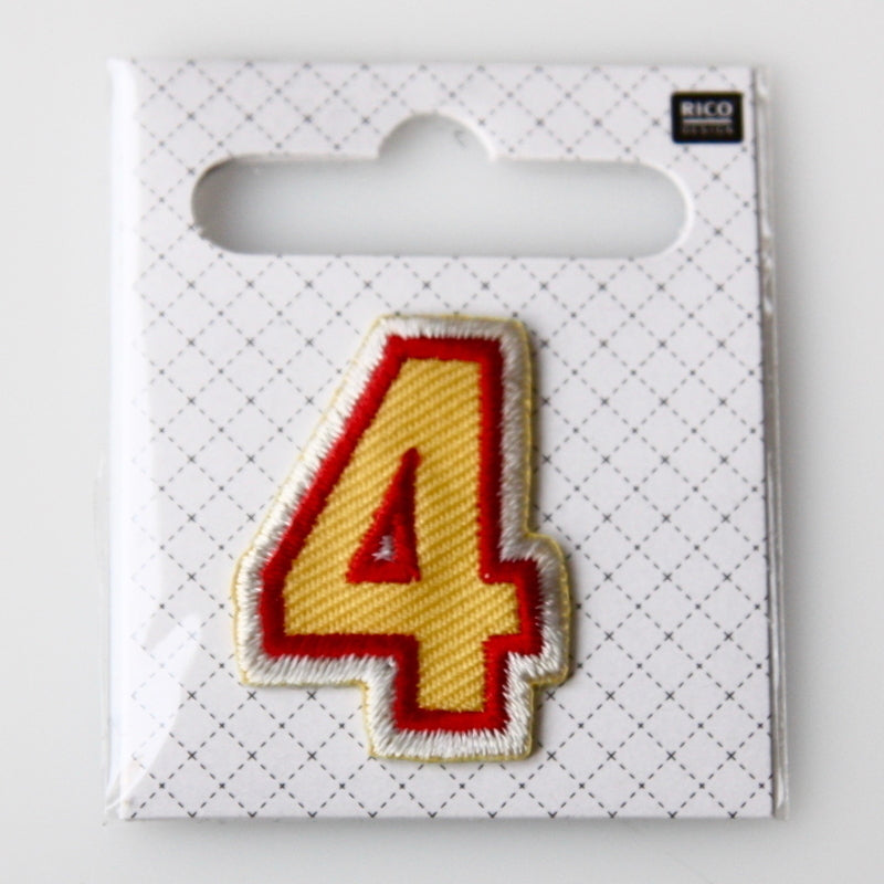 Iron-On Number Patch - 4