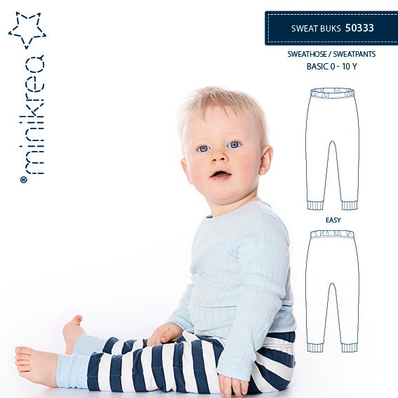 Minikrea 50333 - Unisex 'Sweat Buks' Sweatpants 0-10yrs