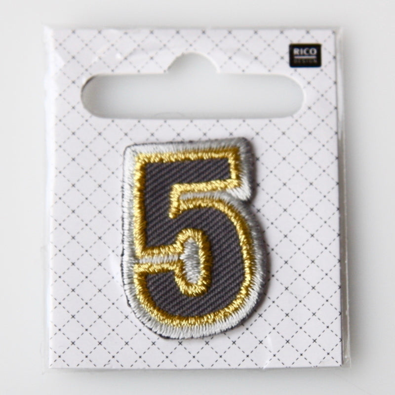 Iron-On Number Patch - 5