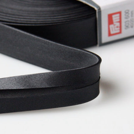 Prym Satin Bias Binding 20mm - 600 Black