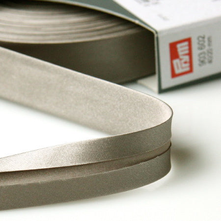 Prym Satin Bias Binding 20mm - 602 Grey