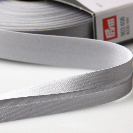 Prym Satin Bias Binding 20mm - 606 Silver