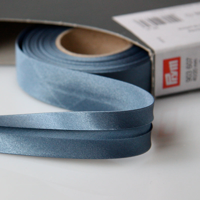 Prym Satin Bias Binding 20mm - 607 Dove Blue