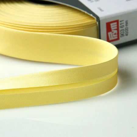 Prym Satin Bias Binding 20mm - 611 Vanilla