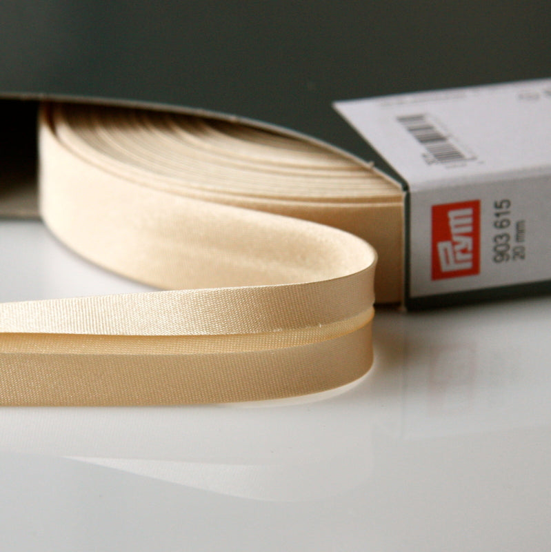 Prym Satin Bias Binding 20mm - 615 Beige