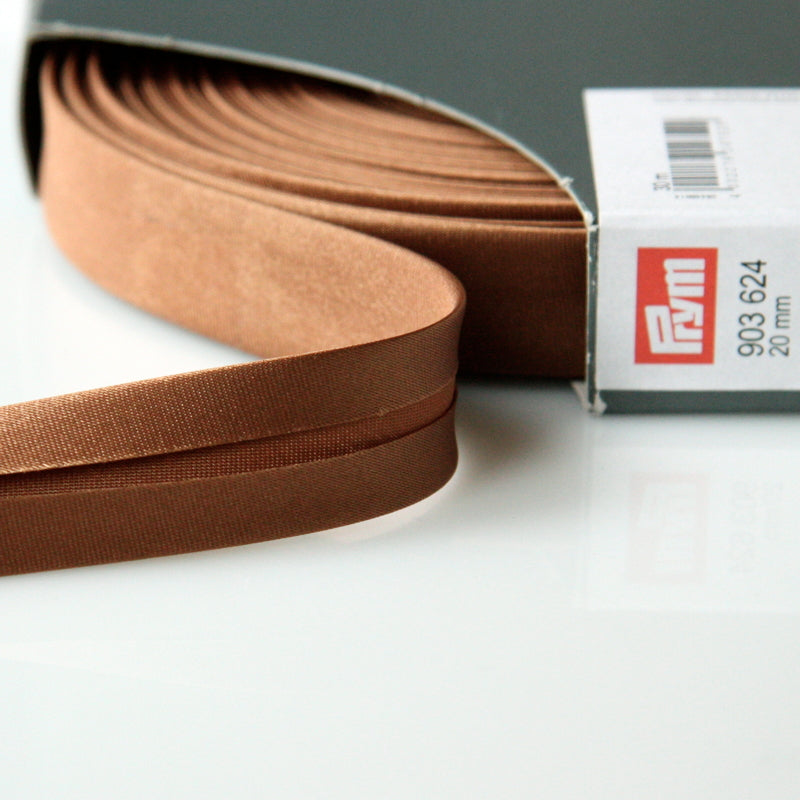 Prym Satin Bias Binding 20mm - 624 Nougat