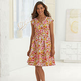 New Look Women's 6262 - Gathered-Skirt Dresses