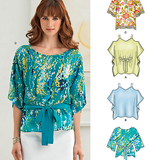New Look Women's 6268 - Drapey Tunic Tops