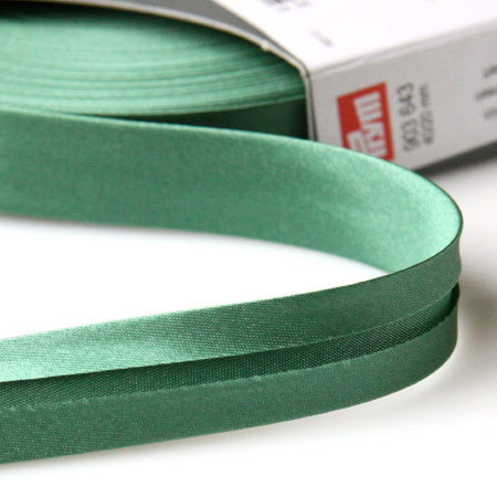 Prym Satin Bias Binding 20mm - 643 Green