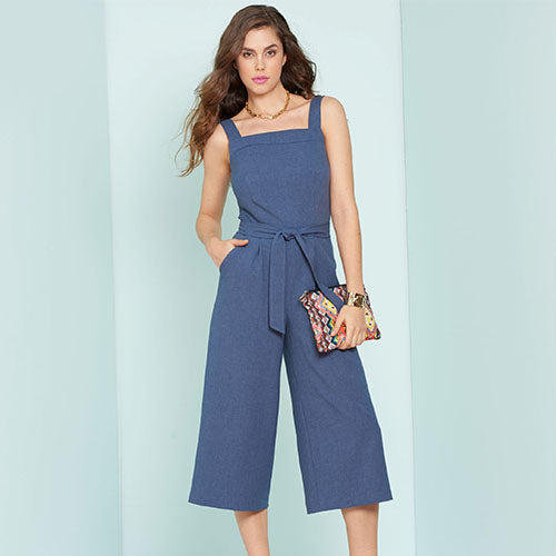 New Look Women's 6446 - Cropped Jumpsuit, Romper & Dresses