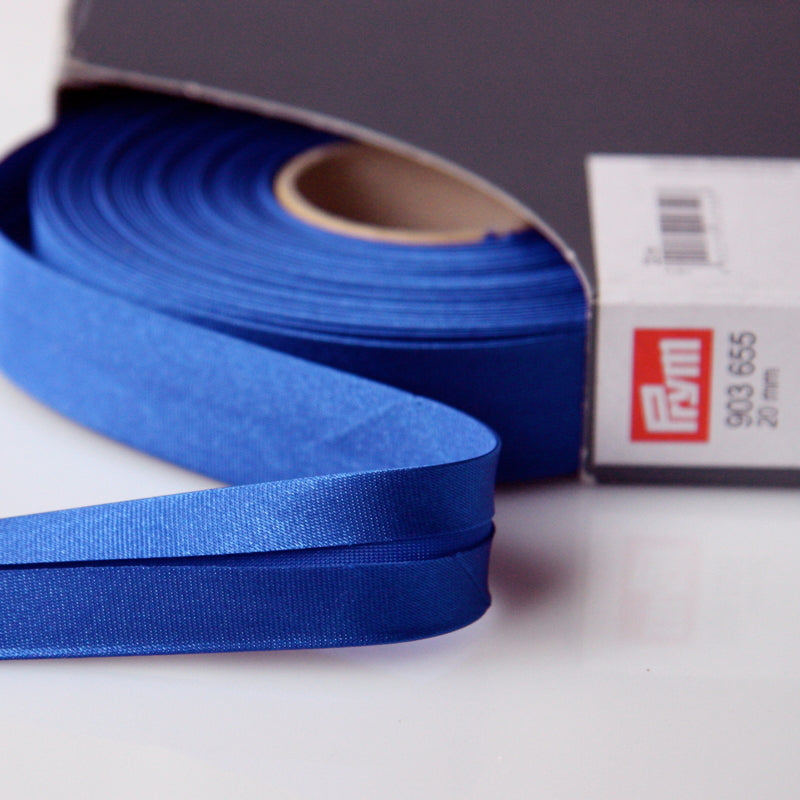 Prym Satin Bias Binding 20mm - 655 Kingfisher Blue