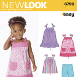 New Look Children's 6796 - Toddlers' Dress, Top & Pants