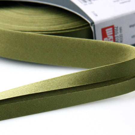 Prym Satin Bias Binding 20mm - 692 Olive