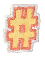 Iron-On Patch - Hashtag