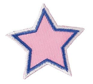 Iron-On Patch - Pink Star