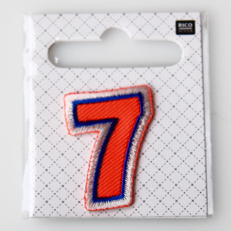 Iron-On Number Patch - 7