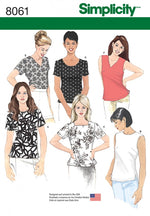 Simplicity 8061 - Basic Top For Beginners <p><b>LAST CHANCE</b></p>