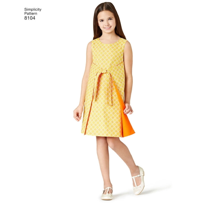 Simplicity Girls' 8104 - Girl's & Teen's Jiffy Reversible Wrap Dress
