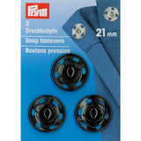 Prym 341172 - Snap Fasteners - Black 21mm