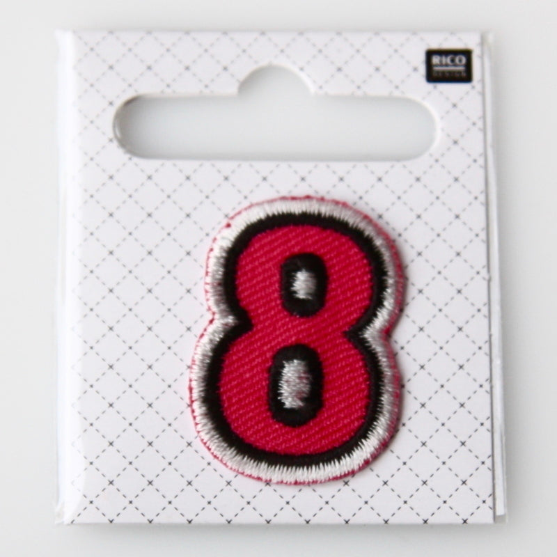 Iron-On Number Patch - 8