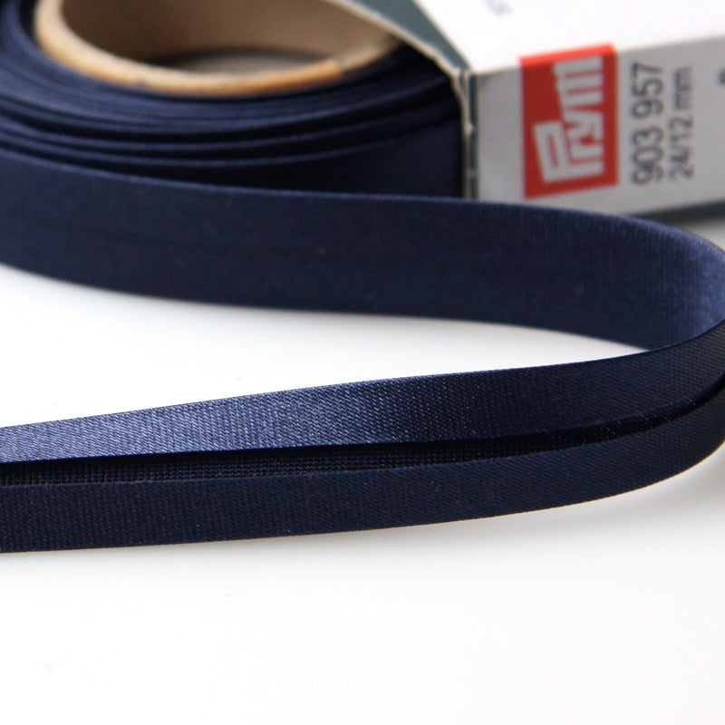 Prym Satin Bias Binding 20mm - 657 Navy