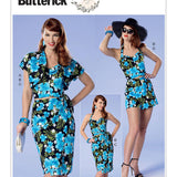 Butterick 6354 - Misses'/Misses' Petite Bolero, Bustier, Sarong and Shorts Patterns by Gertie
