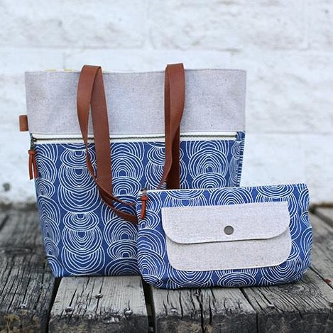 The Caravan Tote Bag and Pouch - Noodlehead