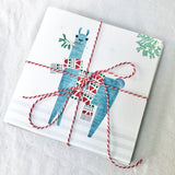 Llama with Mistletoe Christmas Card