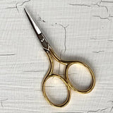 Gold Plate Small Embroidery Scissors 7cm