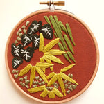 Modern Embroidery Kit - Green Wall