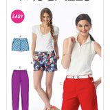 McCall's 6930 - Misses' Flat-Front Shorts and Trousers