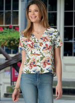 McCall's - M8067 Misses' Button Front Tops #LivMcCalls