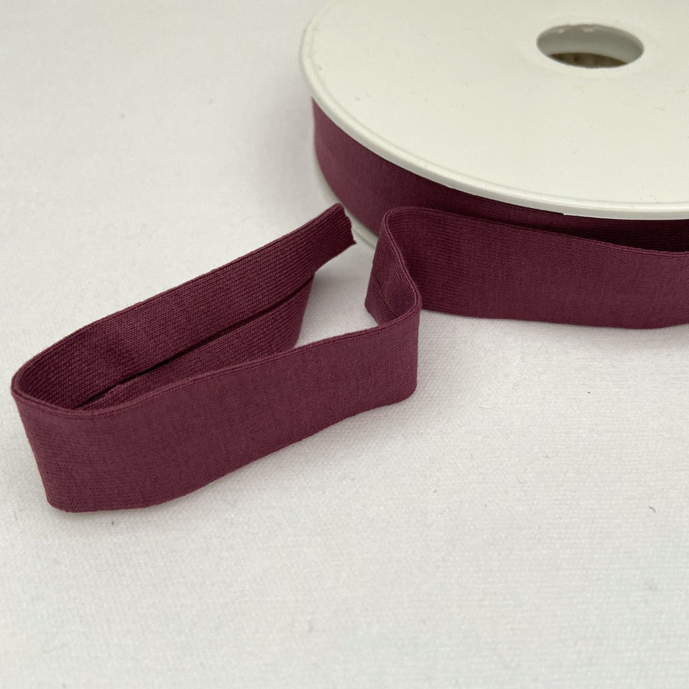 Viscose Jersey Binding 20mm - Mauve