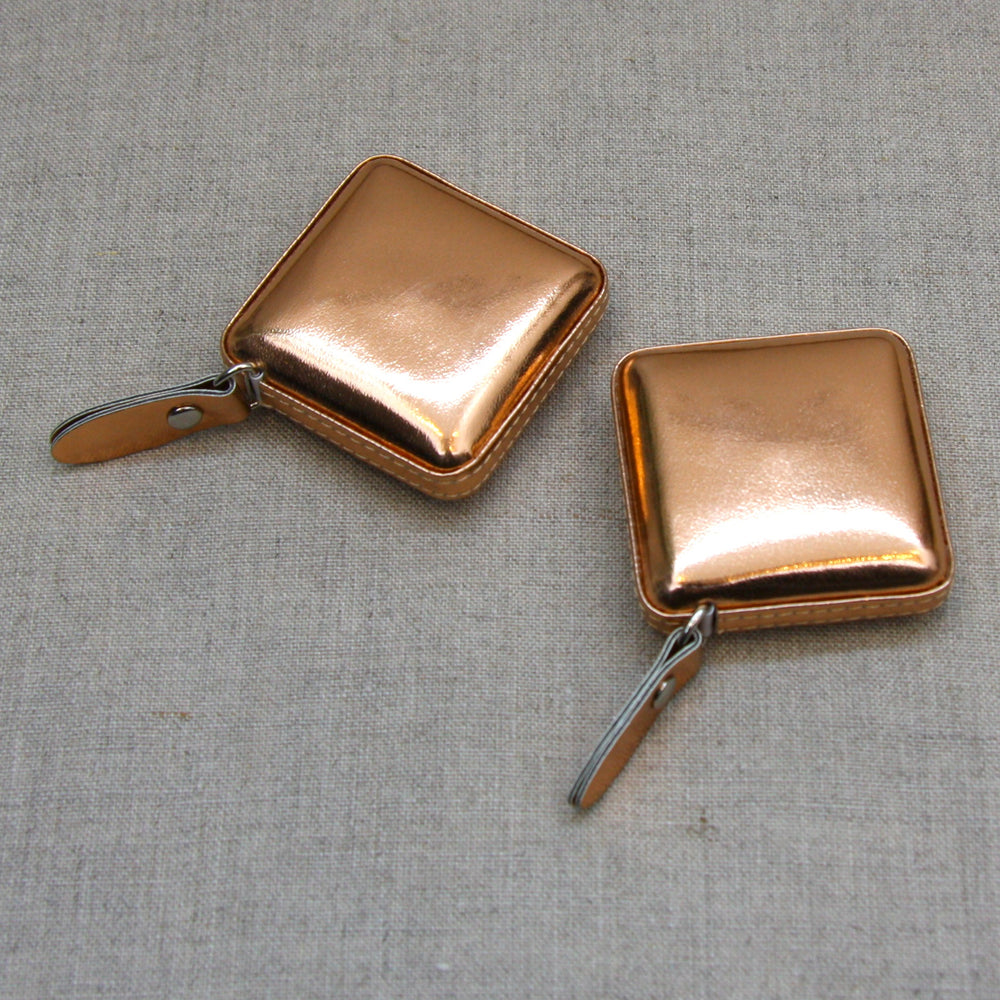 Rose Gold Leather Case Retractable Tape Measure