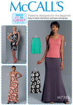 McCall's 7386 - Knit Tank, Dresses and Skirts
