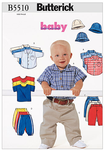 Butterick Baby 5510 - Baby & Child's Full Set
