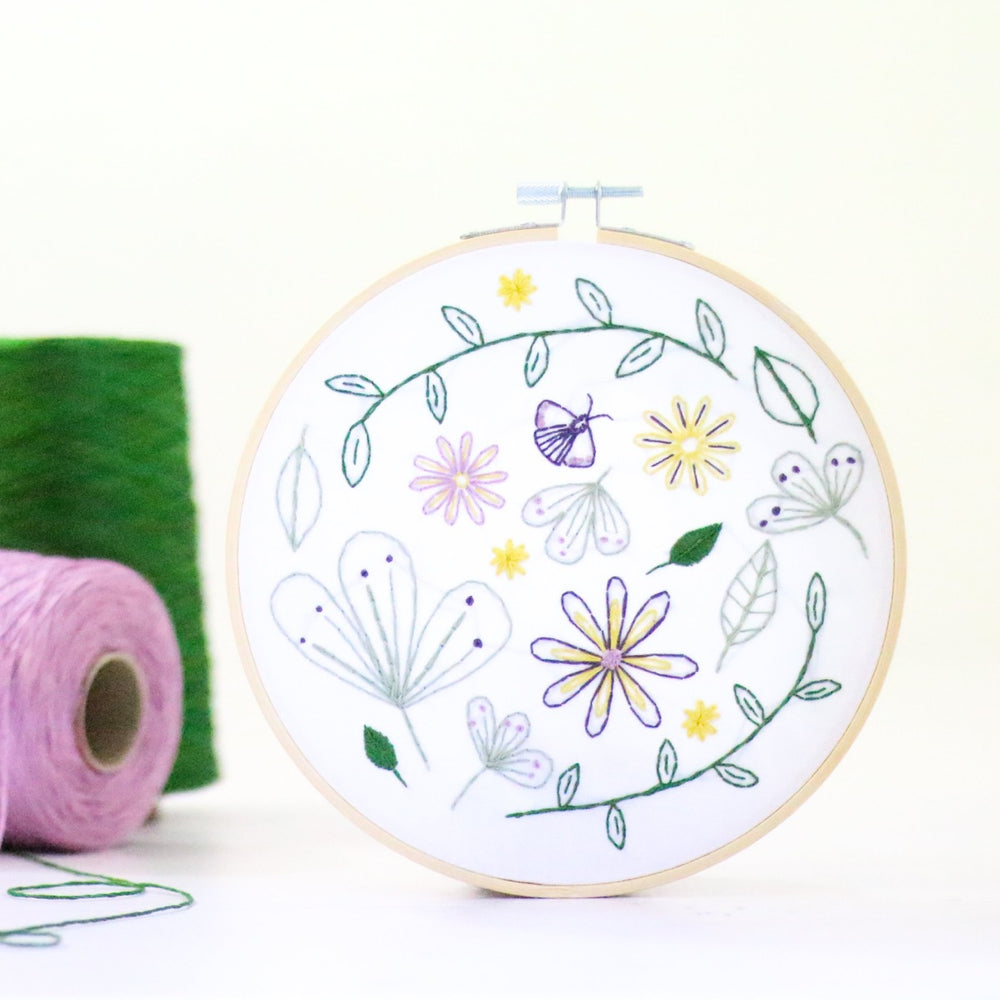 Contemporary Embroidery Kit - Wildflower Meadow