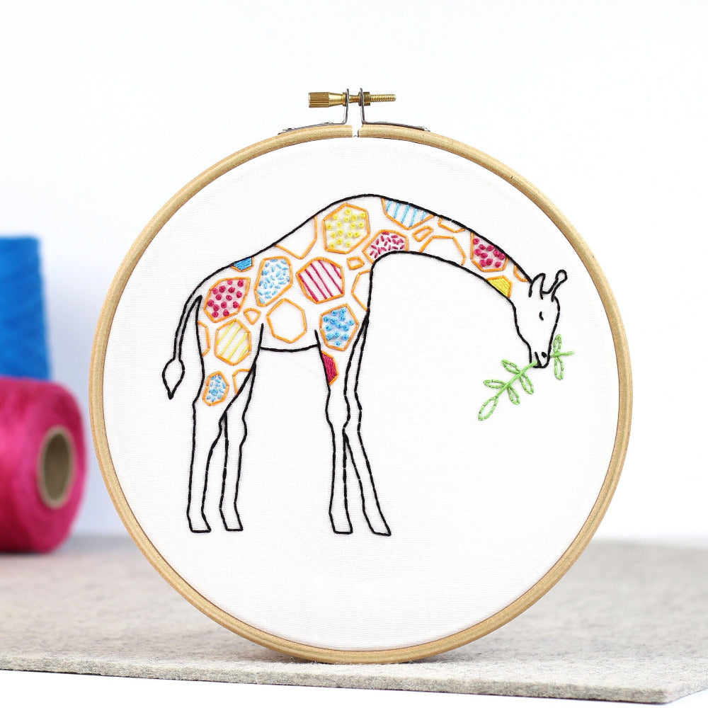 Contemporary Embroidery Kit - Giraffe