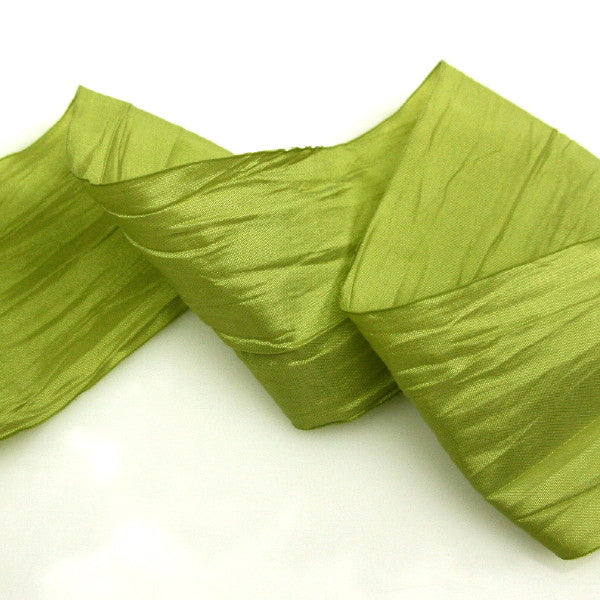 Wide Taffeta Ribbon - Granny Smith