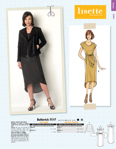Butterick 6169 - Lisette Moto Jacket & Hi-Lo Dress